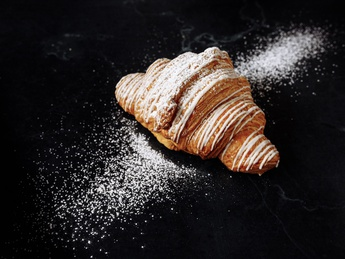 Croissant with vanilla cream
