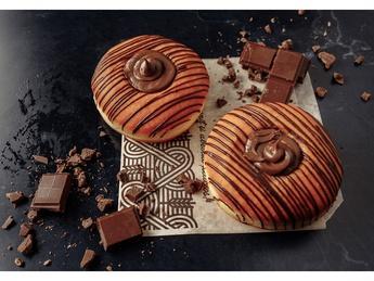 Пончики с шоколадным кремом (постное)