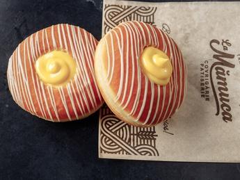 Пончики с ванильным кремом (постное)