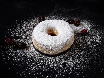 Пончики с сахарной пудрой (постное)