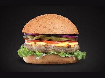 Burger with chicken