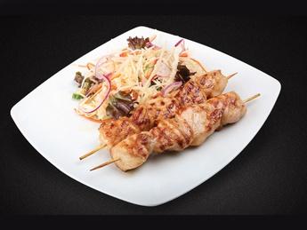Chicken kebab with salad Vitamin