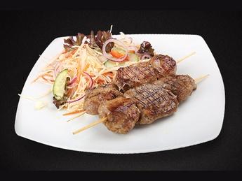 Pork kebab with salad Vitamin