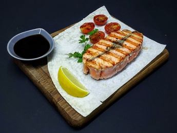 Salmon fillet grilled