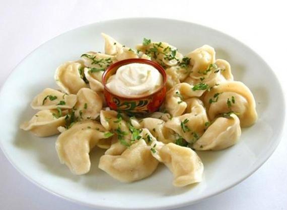 Dumplings with potatoes and mushrooms