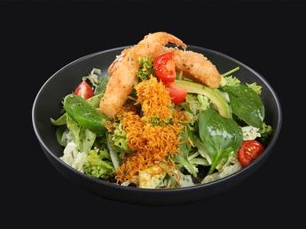 Tempura shrimp salad