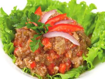 Spicy eggplant salad