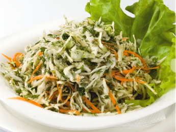 Salad from fresh cabbage