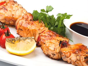 Salmon barbeque