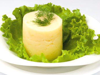 Mashed potatoes with sour cream