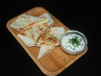 Pita with cheese suluguni and verdure