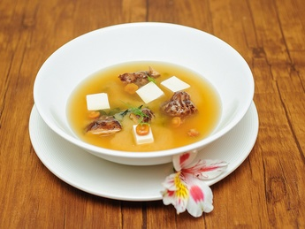 Мисо суп с семгой