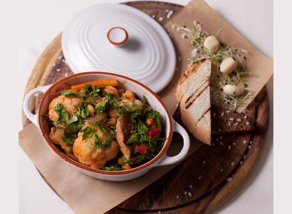 Pot of pork and vegetables