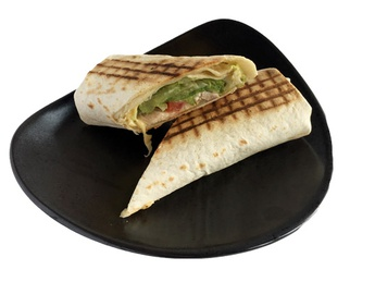 Wrap with chicken tigh