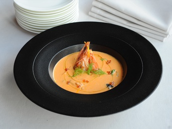 Bouillbaisse soup with seafood