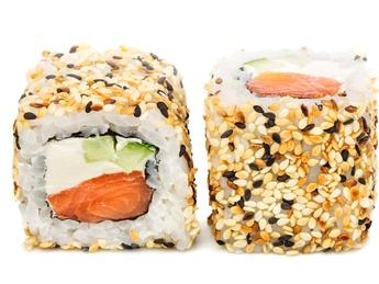 Salmon sesam roll