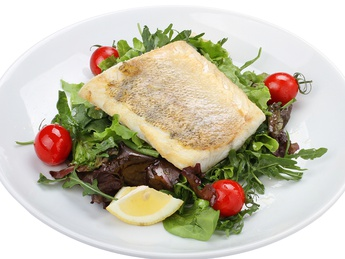 Salad with zander