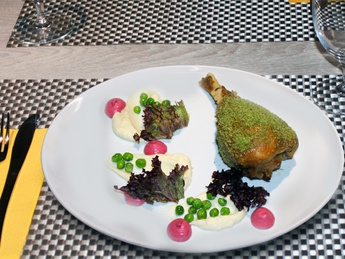 Turkey drumstick with celery Mousse