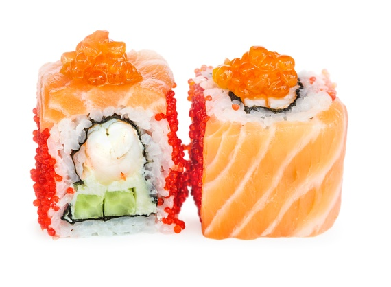 Salmon caviar roll