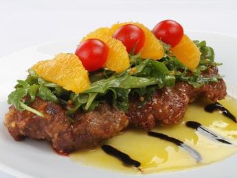 Beef Tenderloin with orange sauce