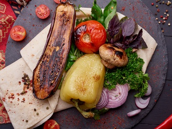 Vegetables grilled - caviar