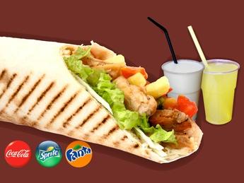 Menu combo chicken kebab