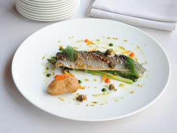 Grilled trout with Caper souce