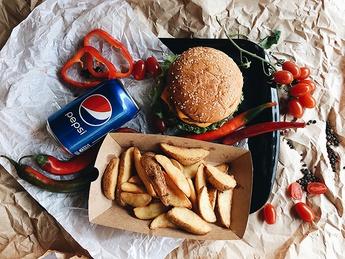 Chicken burger menu