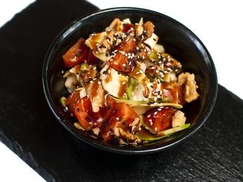Salad unagi
