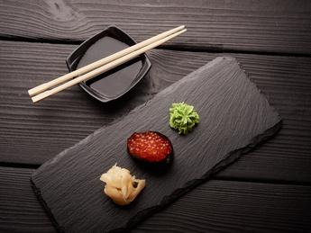 Gunkan with red caviar