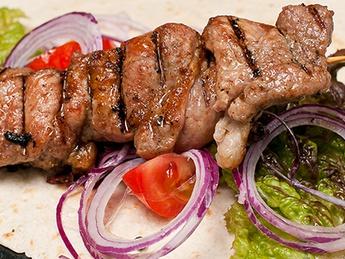 Pork barbecue in pita