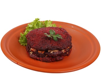 Beetroot potato pancakes