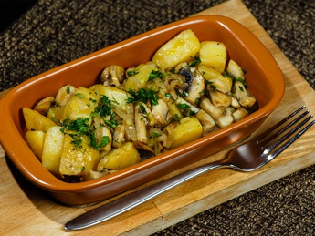 Potatos with mushrooms