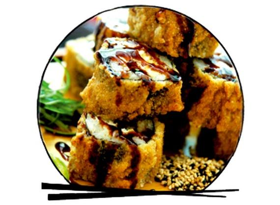 Ebi tempura hot roll