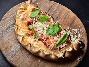 Calzone with ham