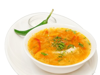 Soup with chicken