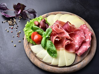 Cheese and sausage appetizer