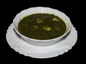 Aaloo palak curry