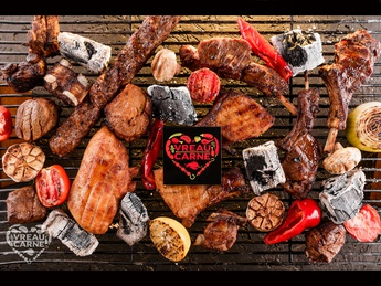 Assorted meat on the grill