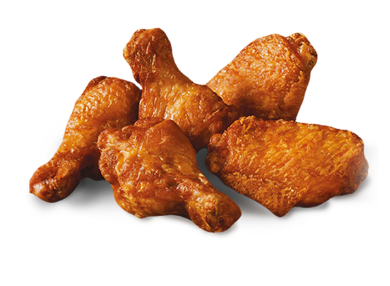 6 BBQ chicken wings