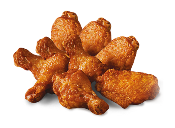 9 BBQ chicken wings