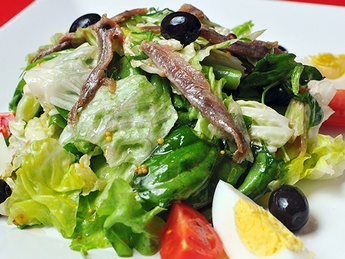 Warm salad of Nisuaz
