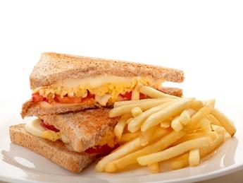 Sandwich Scrambled eggs