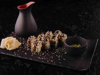 Sake maki tempura