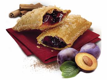 Pie with plum