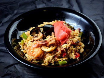 Thai rice with seafood