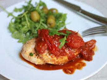 Chicken breast in Sicilian sauce