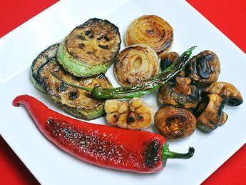 Seasonal vegetables on the grill