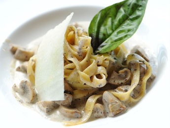 Pasta Tartufata with wild mushrooms