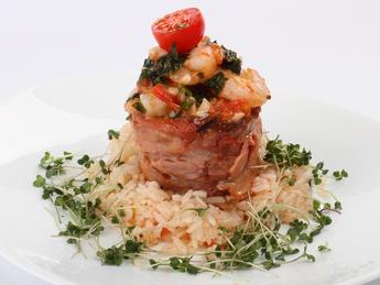 Filet Mignon with shrimp